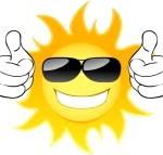 sole-sorridente-con-gli-occhiali-vector-illustration