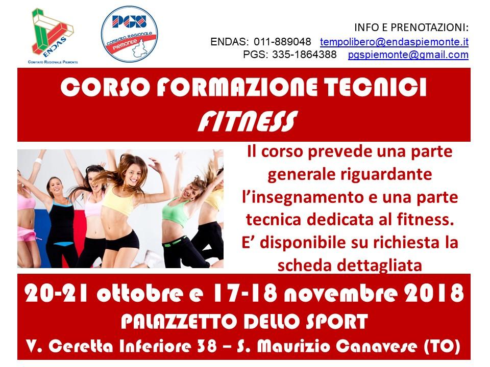 (2018 Ottobre-Novembre) Volantino Corso formazione tecnici Fitness
